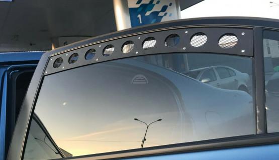 Rear Window Vents for Honda Civic Sedan 8th gen 05-11 Mesh Plastic 2pcs Pair