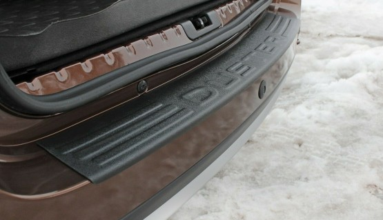 Rear bumper trim for Dacia Renault Duster 2010-2015 plate sill protector cover