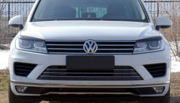 Eyelids eyebrows for Volkswagen Touareg 2014 - 2018 Headlights cover eyelash