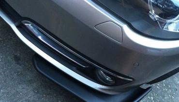 Racing Canards Winglet Type Lip Splitter Apron Under Front Bumper