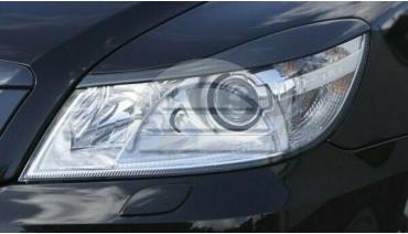 Eyelids eyebrows for Skoda Octavia A5 MK2 FL 2009-2013 Headlights Covers eyelash