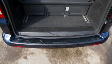 Rear bumper trim for VW Multivan Transporter 09-15 plate sill protector cover