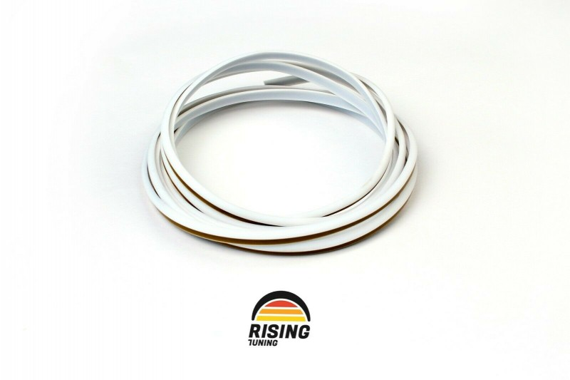 Rubber welting T-type trim gasket fender flares white 3.5m 11.5ft for pair