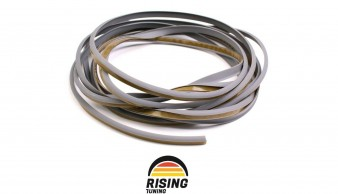 Rubber welting T-type trim gasket fender flares grey 3.5m 11.5ft for pair