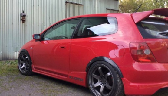 Fender Flares for Honda Civic wide body kit wheel arch 1,2 inch 30mm ABS plastic