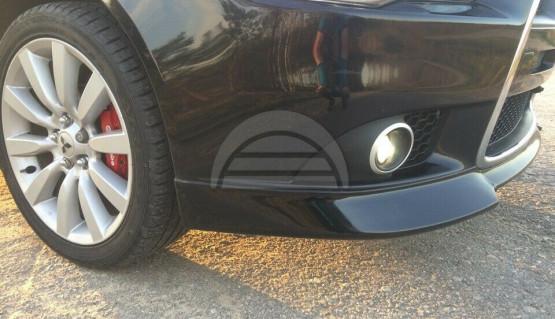Front Fangs for Mitsubishi Lancer X 12-15 bumper lip spoiler Evo style bodykit