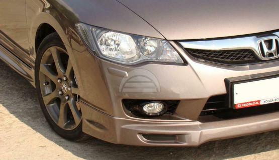 Front Lip Skirt Mugen Style for Honda Civic 4d Sedan FD 8th gen 09-11 Body Kit