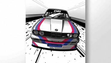 BMW M3 E30 M-stripes